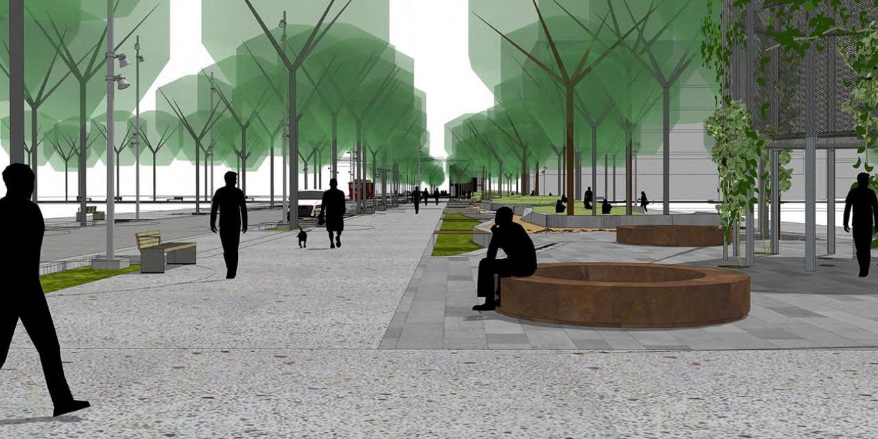 Artist's Impression of Daldy Street Linear Park extension