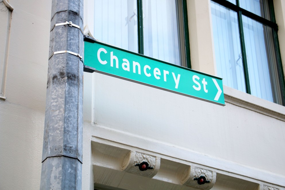 Chancery street sign