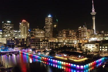 Viaduct Harbour and Rainbow Pride Auckland