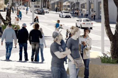 Artist's impression of Victoria Street outside Aotea Station