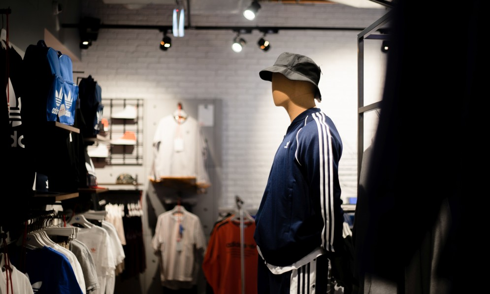 Mannequin wearing clothing