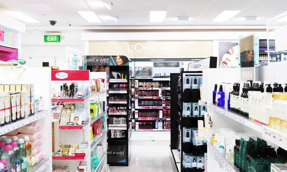 Beauty product display area