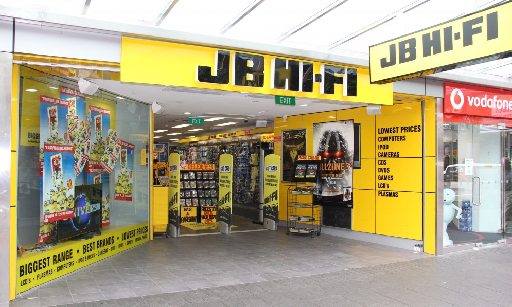 Outside the JB Hi-Fi store