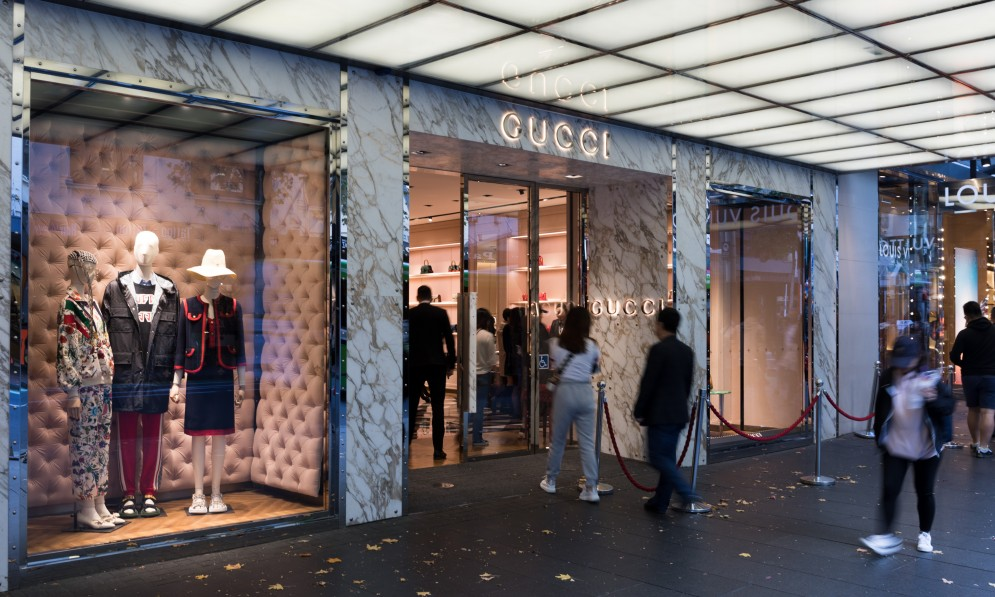 Exterior of Gucci store