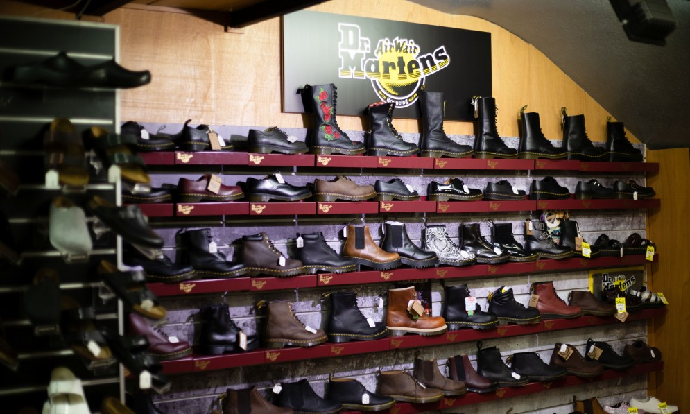 Dr Martens shoe display