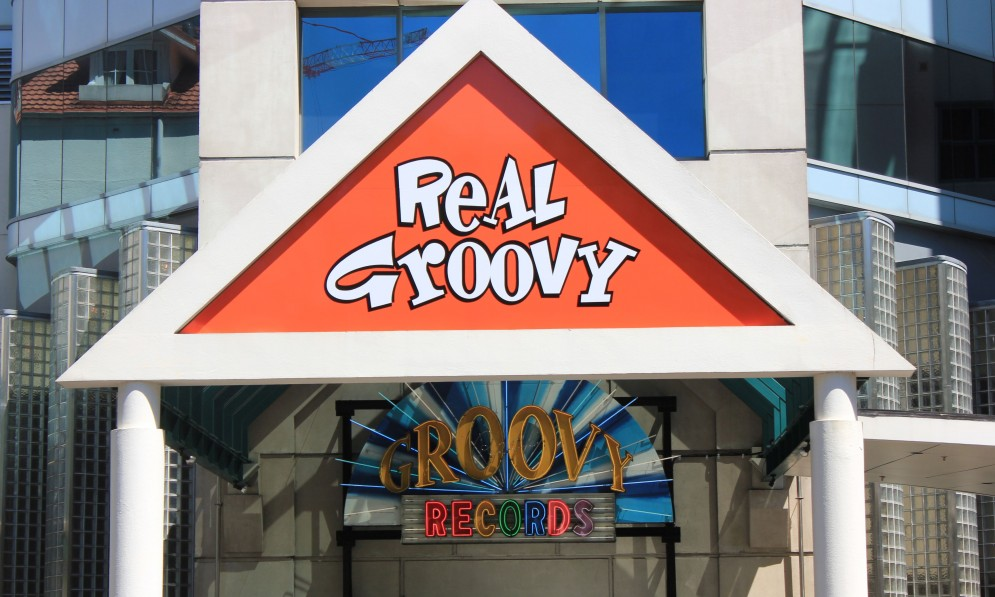 Real Groovy outside sign