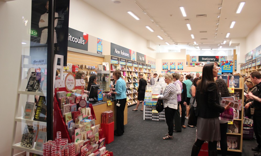 Customers looking through books