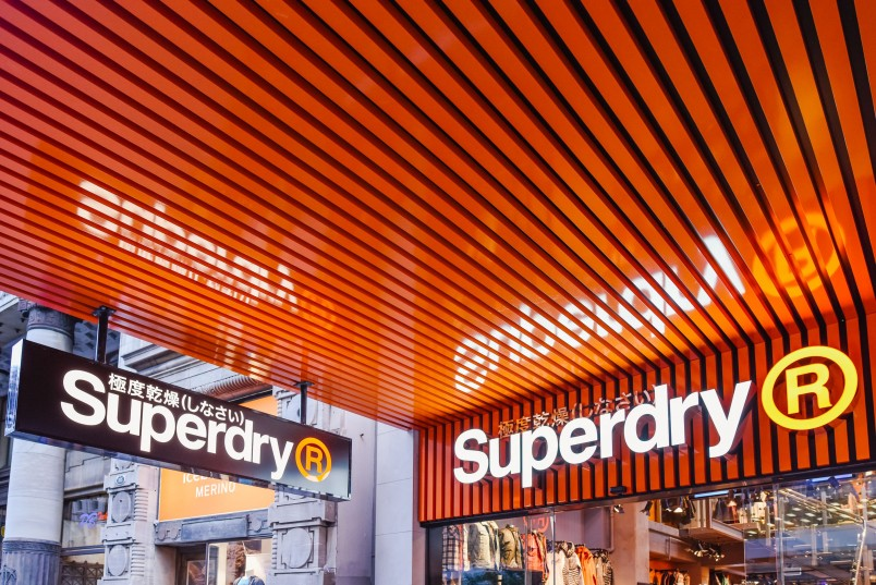 Sign outside superdry store