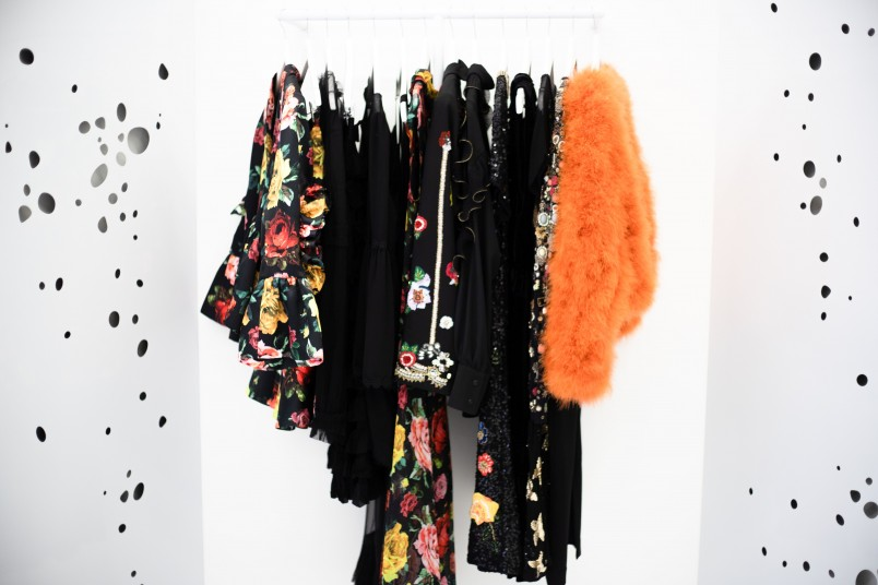 Garments on rack