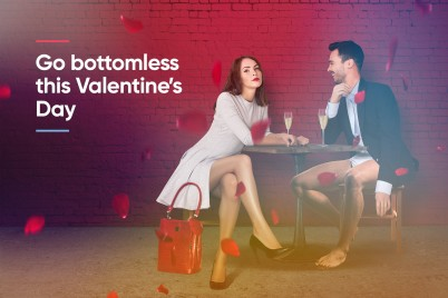 Go Bottomless This Valentine's Day